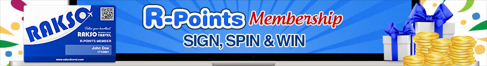 R-POINTS MEMBERSHIP SIGN, SPIN & WIN