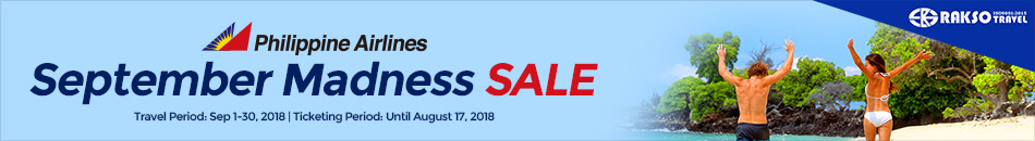 PHILIPPINE AIRLINES SEPTEMBER MADNESS SALE