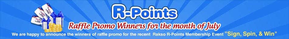 R-POINTS RAFFLE PROMO WINNERS