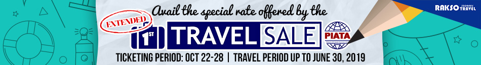 PHILIPPINE IATA AGENTS TRAVEL ASSOCIATION TRAVEL SALE