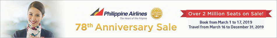 PHILIPPINE AIRLINES 78TH ANNIVERSARY SALE