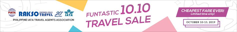 FUNTASTIC 10.10 TRAVEL SALE