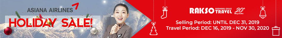 ASIANA AIRLINES HOLIDAY SALE