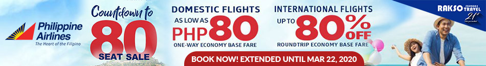 PHILIPPINE AIRLINES' COUNTDOWN TO 80 SEAT SALE