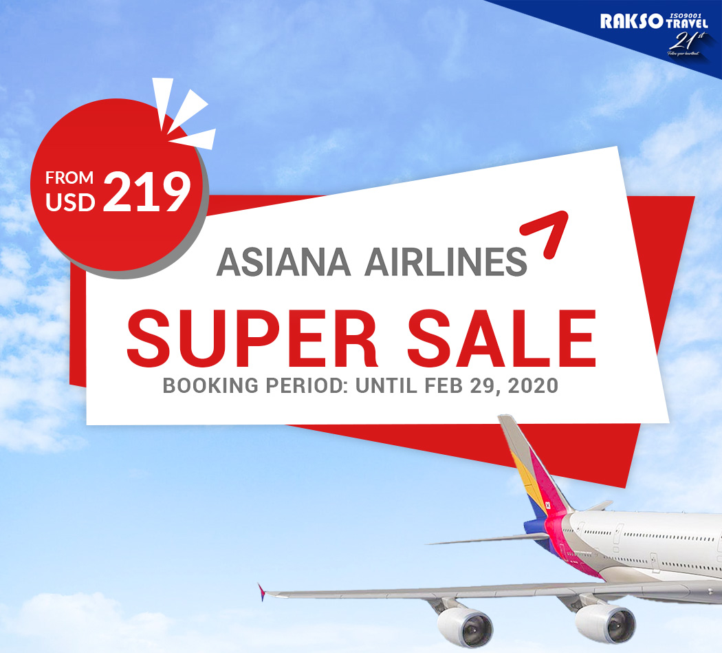 ASIANA AIRLINES SUPER SALE 2020